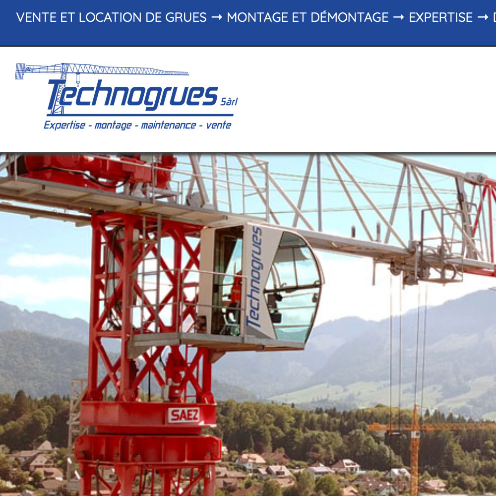 Technogrues, location et vente de grues